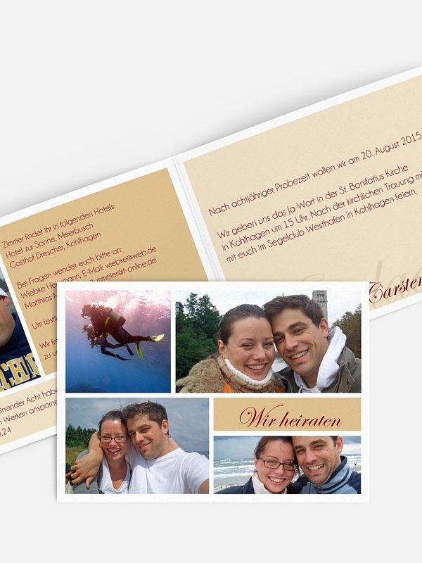 Hochzeitseinladung Fotowand