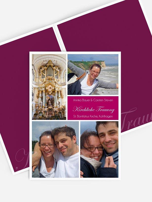 Kirchenheft Hochzeit Fotowand