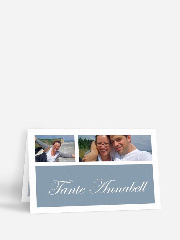 Tischkarte Hochzeit Fotowand