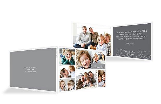Weihnachtskarte Fotowand