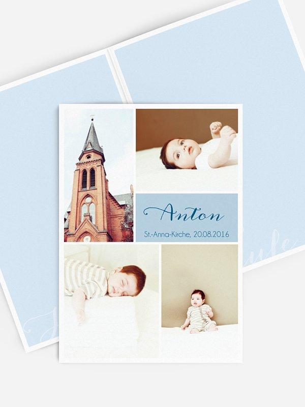 Kirchenheft Taufe Fotowand