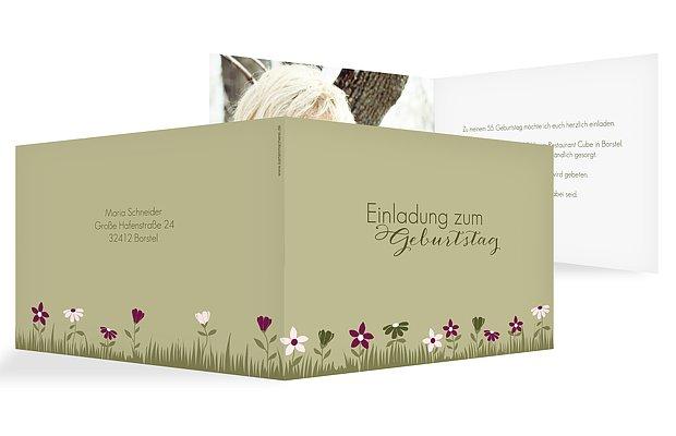 "Geburtstagseinladung ""Blumenwiese"""
