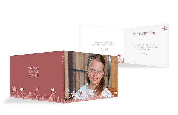"Dankeskarte Kommunion ""Blumenwiese"""