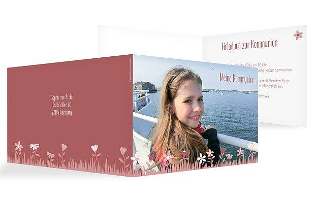 Kommunionseinladung Blumenwiese