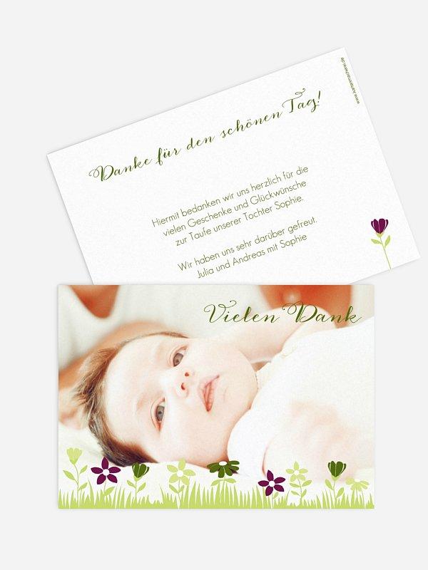 Dankeskarte Taufe Blumenwiese