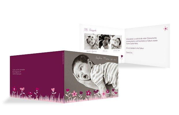 """Geburtskarte """"Blumenwiese"""""""