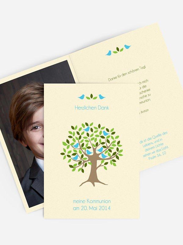 Danksagung Kommunion Baum