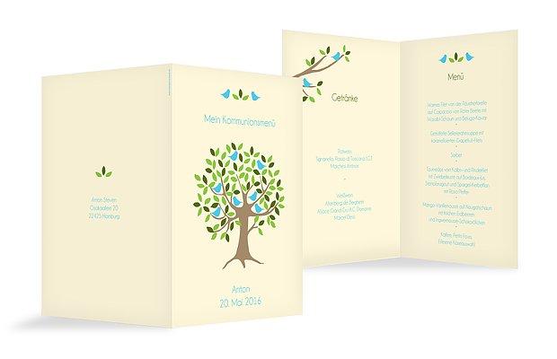 Menükarte Kommunion Baum