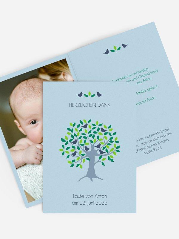 Dankeskarte Taufe Baum