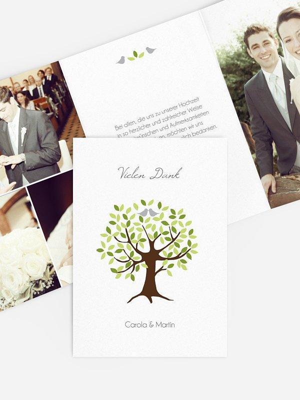 Dankeskarte Hochzeit Baum