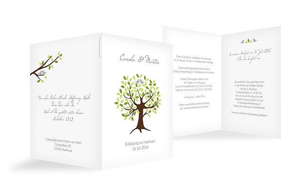 """Hochzeitseinladung """"Baum"""""""