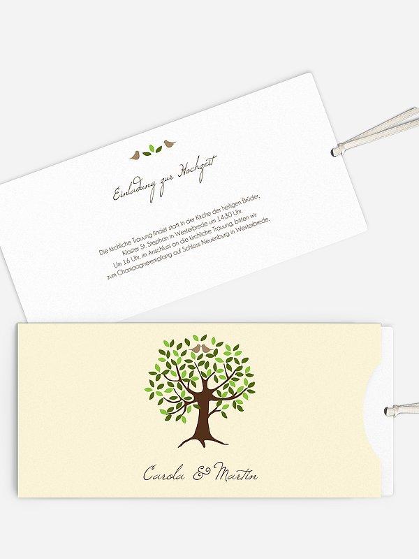 Hochzeitseinladung Baum