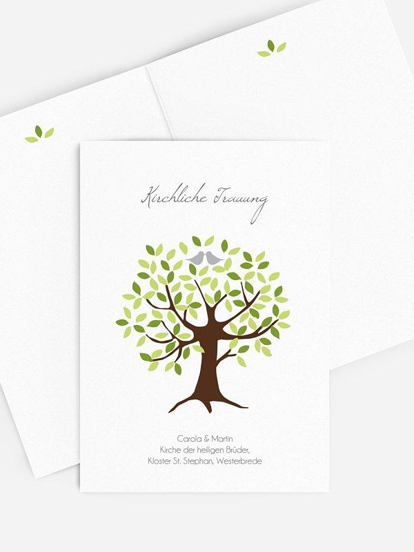 Kirchenheft Hochzeit Baum