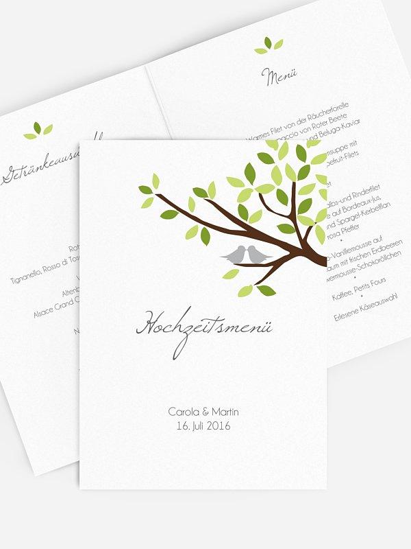 Menükarte Hochzeit Baum