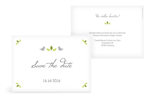 Save-the-Date Karte Baum