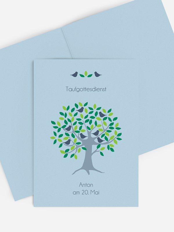 Kirchenheft Taufe Baum
