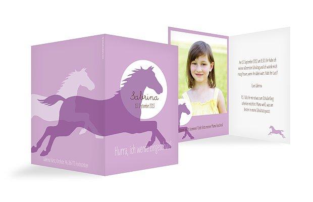 """einladung einschulung """"pferde"""", Einladung"""