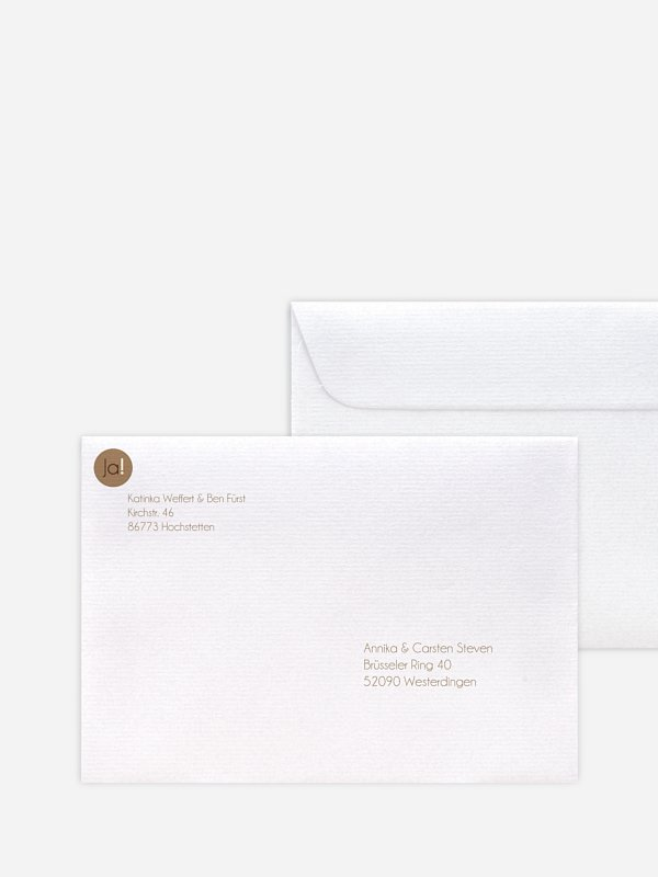 Briefumschlag Bedruckt Heiraten Ja
