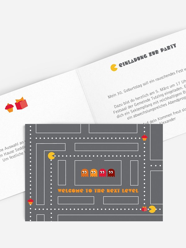 Einladung 30. Geburtstag Game On