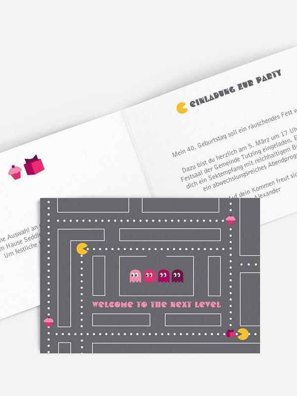 Einladung 40. Geburtstag Game On