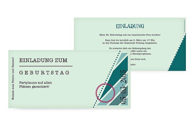 einladung zum 40. geburtstag: einladungskarten gestalten, Einladung