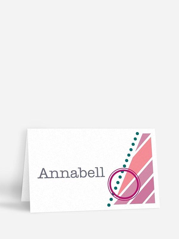 Tischkarte Geburtstag Eintrittskarte