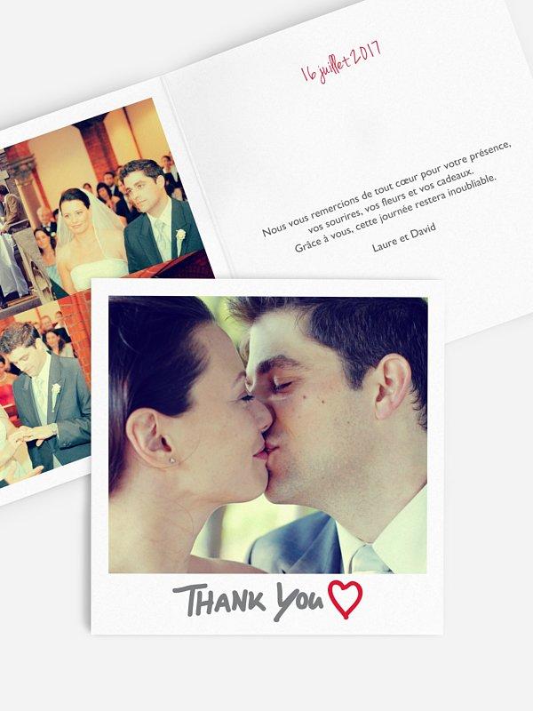 Carte de remerciements Polaroid