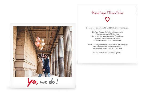 Einladung Hochzeit Mit Foto | Einladung Zur Hochzeit Polaroid