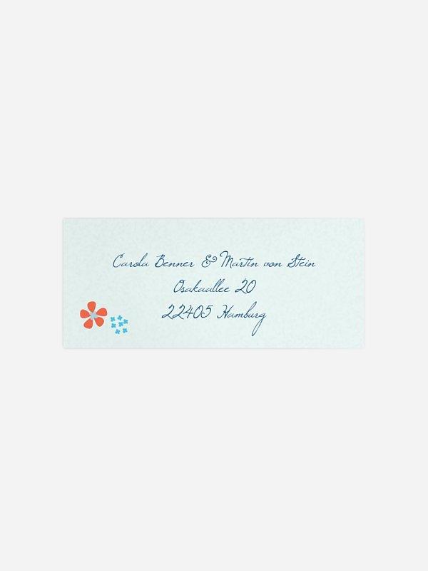 Absenderaufkleber Hochzeit Floral Banner