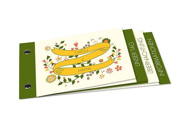 Hochzeitseinladung Floral Banner