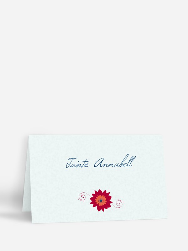 Tischkarte Hochzeit Floral Banner