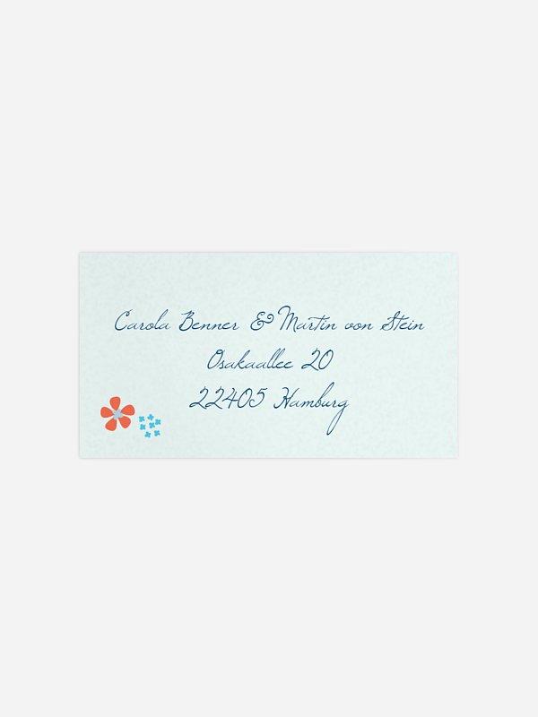 Empfängeraufkleber Hochzeit Floral Banner