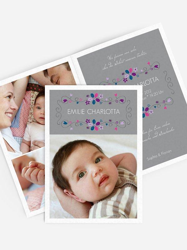 Geburtskarte Floraline