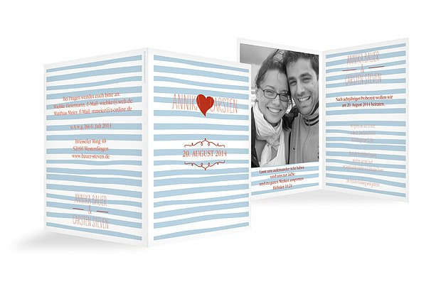 """Hochzeitseinladung """"Soft Stripes"""""""