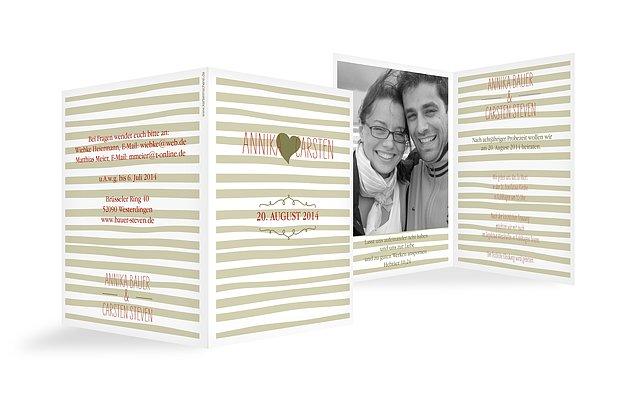 Hochzeitseinladung Soft Stripes