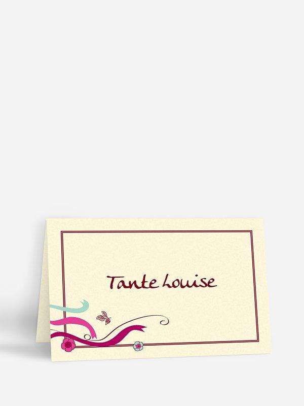 Tischkarte Hochzeit Tandem