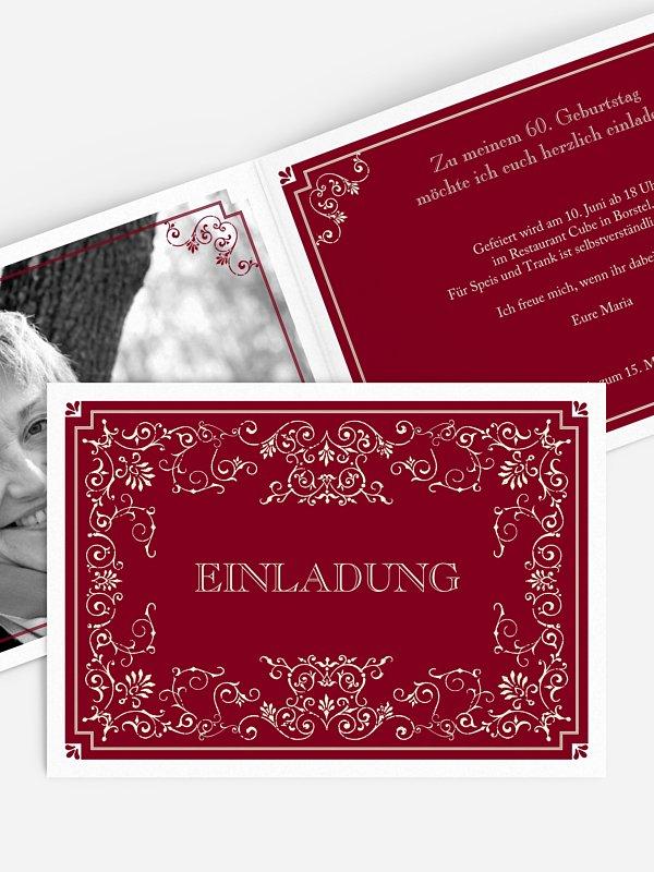 Einladung 60. Geburtstag Eleganz