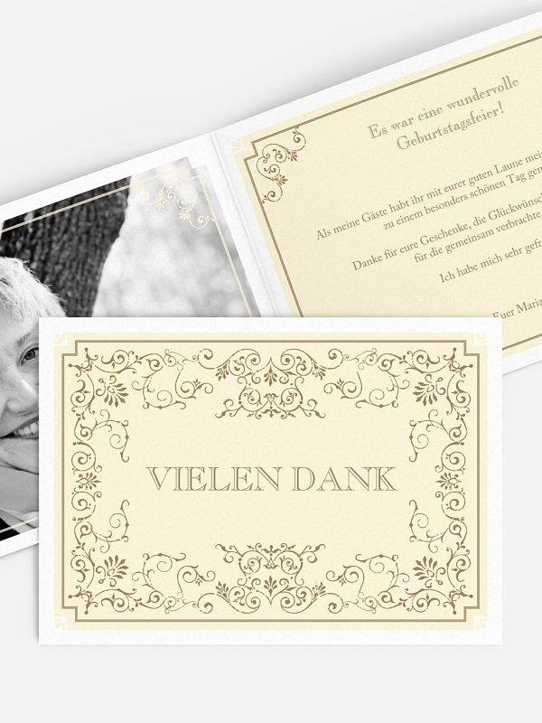 Dankeskarte Geburtstag Eleganz