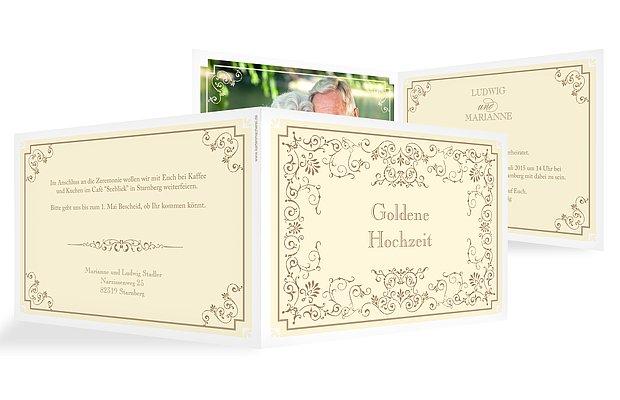 Einladung zur Goldenen Hochzeit Eleganz