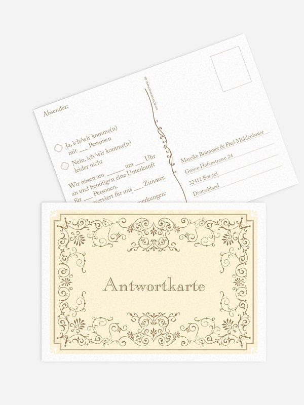 Antwortkarte Hochzeit Eleganz