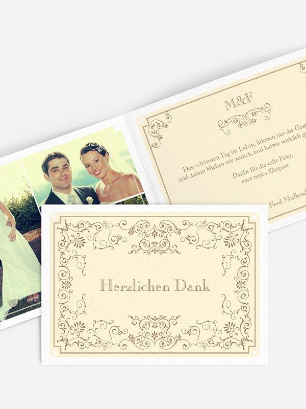 Dankeskarte Hochzeit Eleganz