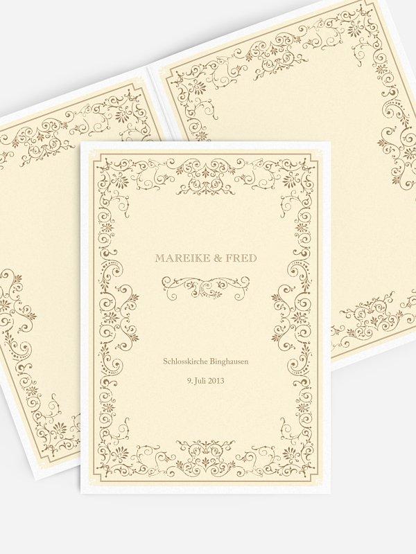 Kirchenheft Hochzeit Eleganz