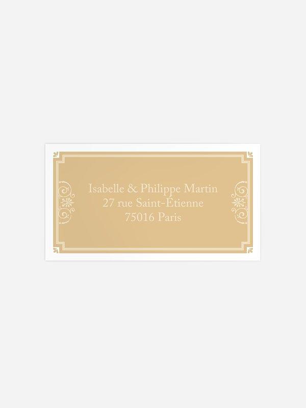 Étiquette destinataire mariage Élégance