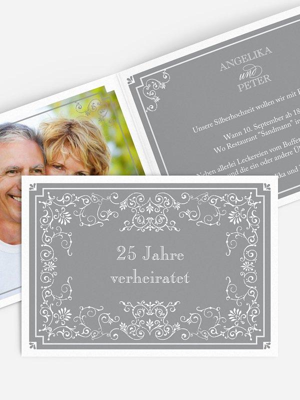 Einladung zur Silberhochzeit Eleganz