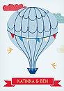 """Hochzeitseinladung """"Heißluftballon"""""""