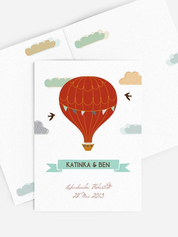 Kirchenheft Hochzeit Heißluftballon