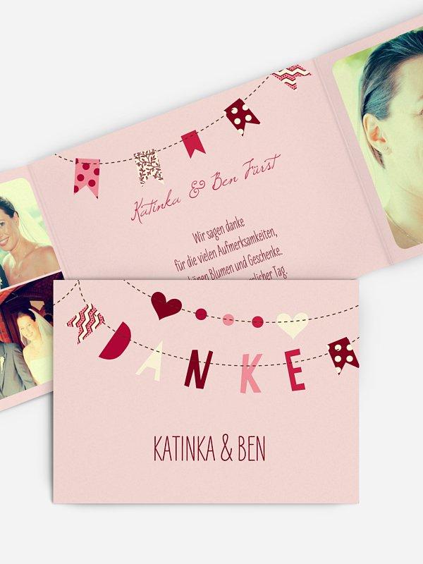 Dankeskarte Hochzeit Festive