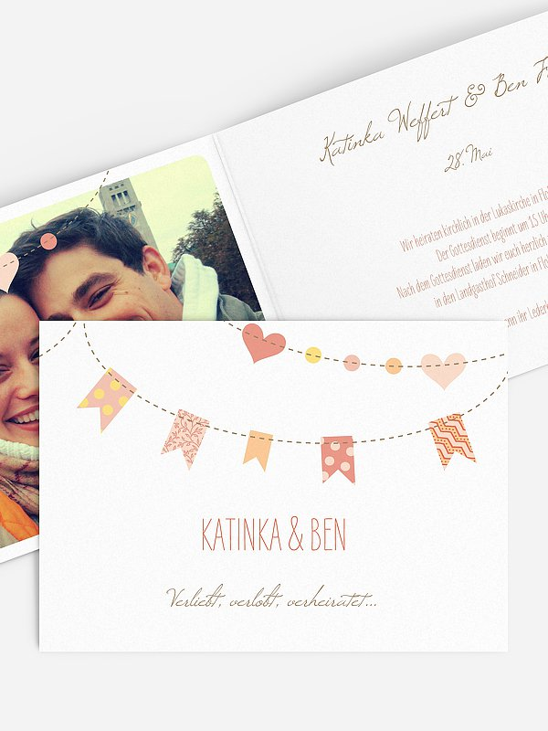Hochzeitseinladung Festive