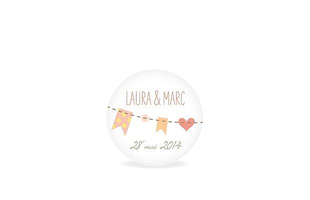 Étiquette cadeau mariage Festif