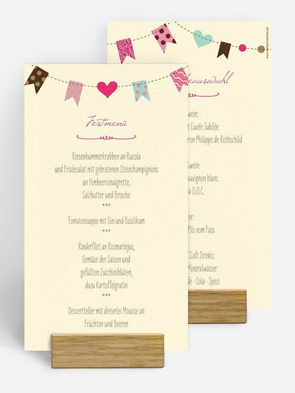 Menükarte Hochzeit Festive
